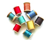 All Spooled Up - Vintage Wooden Spools of Thread
