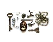 Found - Vintage Miniatures, Metals, Skeleton Key, and More