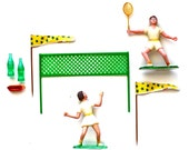 Tennis, Anyone - Vintage Tennis Cake Topper Set