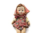A Painted Expression - Vintage Cloth Doll