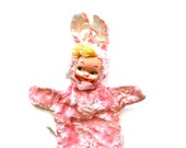 Soft and Sweet - Vintage Gund Pink Bunny Doll Hand Puppet