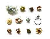 A Garden of Embellishments - Vintage Flower Brooches, Findings, and More