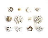 It's a White Wedding - Vintage White Flower Clips, Findings, and More