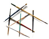 Pick Up Sticks Paint Brush Style - Vintage Collection of Paint Brushes