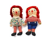 Reserved for Gina - Forever Friends - Vintage Knickerbocker Raggedy Ann and Andy Dolls