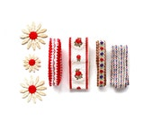 Sweet Summer Trims - Vintage Red, White, and Blue Sewing Trims and Appliques