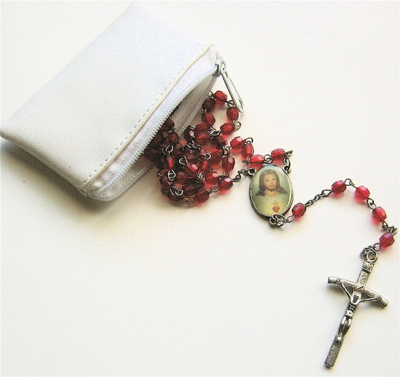 Prayers In A Pouch - Vintage Rosary
