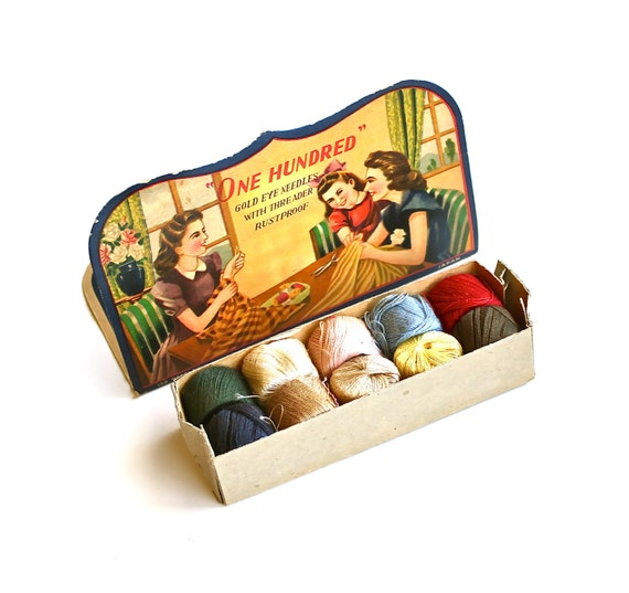 Sew Darn Cute - Vintage Darning Spools and Needle Book