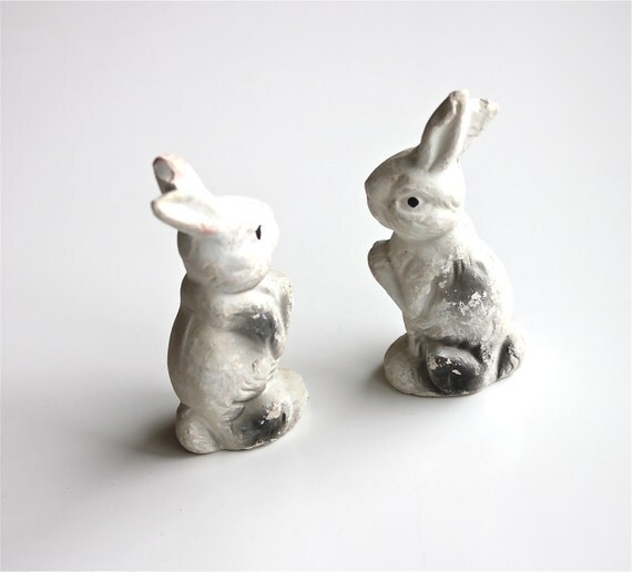 Bunny Love - Vintage Rabbits - Composition Rabbits Made in Japan