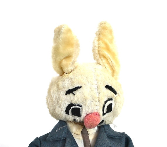 Nice to Meet You Mr. Bunny Man - Vintage Poseable Bunny In a Suit