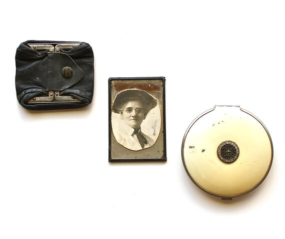 Remembering Mother and Her Favorite Things - Antique Compact, Mirror, and Change Purse