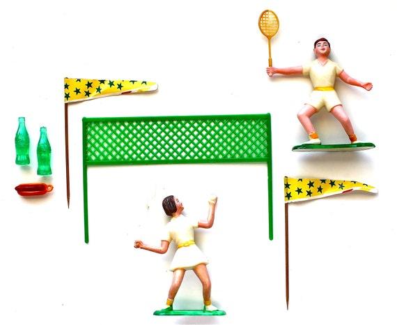 Tennis, Anyone - Vintage Tennis Cake Topper Set