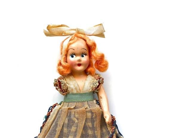 Single Handed - Vintage 1940s Princess Anna Composition Doll