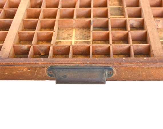 Tiny Squares for Tiny Things - Vintage Letterpress Drawer