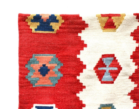 Reserved for Kelly - Southwest Home - Vintage Southwestern Wool Throw Rug