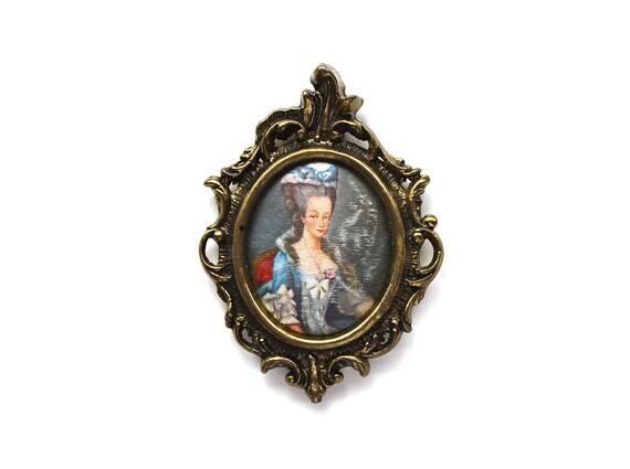 Marie as a Pendant - Vintage Pendant  - Marie Antoinette Brass Pendant
