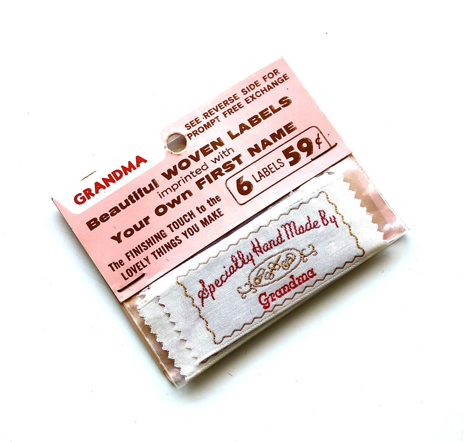 Sewn By Grandma Vintage Sewing Labels By Becaruns On Etsy