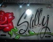 Personalized Airbrushed License Plate to Decorate your Car or Truck