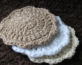 Crocheted Cotton Facial Rounds/Facial Scrubbies - Remove Your Make Up Eco Friendly Style
