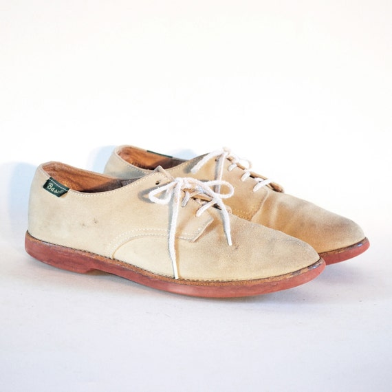 Soft Oatmeal Suede Classic Bass Oxfords 8.5 9