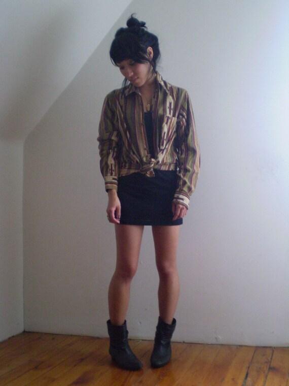 Awesome 80s NAVAJO PRINT Button-Down Shirt