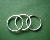 SO STACKABLE - 2mm Sterling Silver Band - you choose the finish