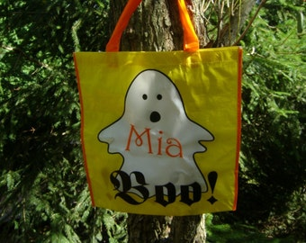 Personalized Boolicious Halloween Treat Bag Eco Friendly