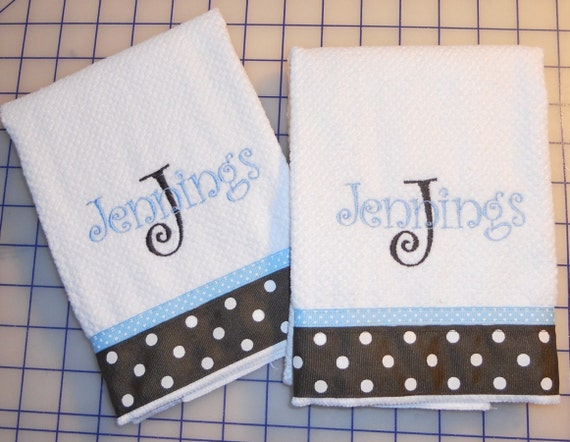 Embroidered Microfiber Kitchen Towel Personalized Monogrammed