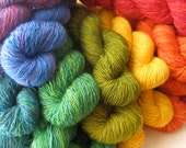 Barn Raiser Mini Skeins: Gemstone Rainbow Semisolids (Free Shipping)