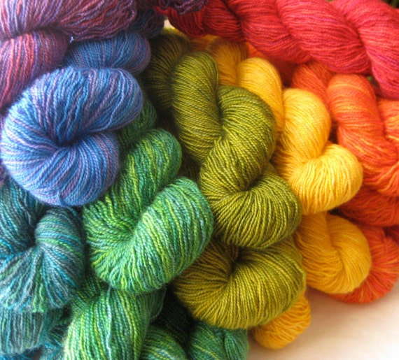 Free Shipping Mini Skeins: Pure Color Happiness to Share