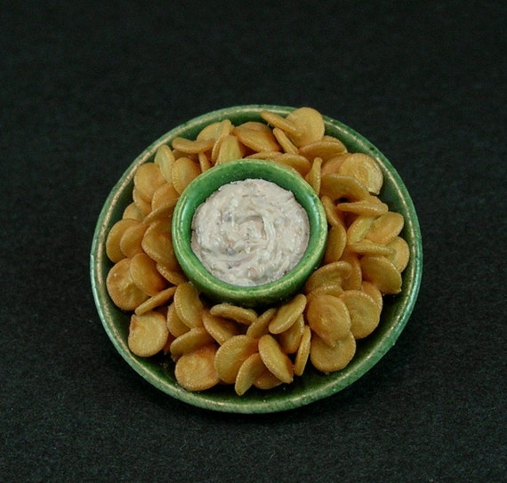 Onion Dip and Potato Chips