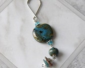 Earth and Sky Porcelain Beads Purse Charm Keychain