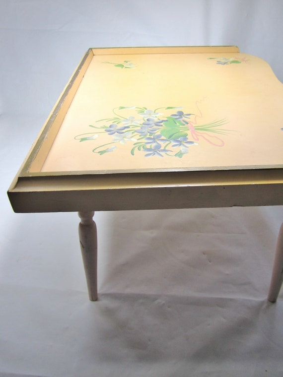 BED TRAY / 1950s / WOODEN Lap Tray / Folding / Vintage