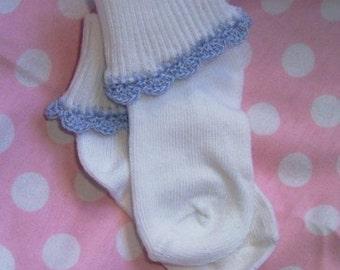hand crocheted baby socks