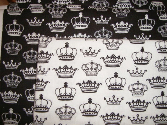 Crowns by Makower UK fabric half yard set