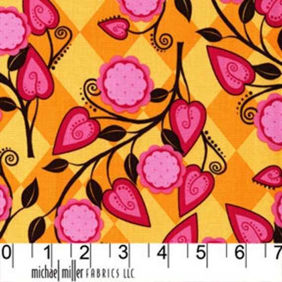 RESERVED for Julie SALE Andalucia in Tangerine from Michael Miller 1 yard