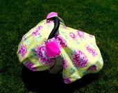 Painted Mums Car Seat Blanket with Minky (Car Seat Canopy with Elastic)