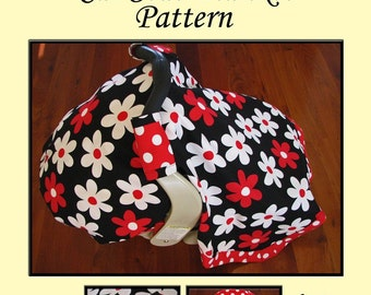 PRINTED Car Seat Blanket Pattern (Car Seat Canopy Pattern with Elastic)