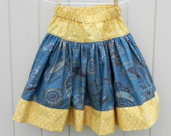 Cornflower Twirly Skirt  Size 3T - 4T