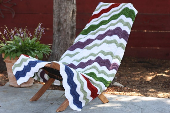 Beautiful and Luxuriously Handcrafted CROCHET Blanket WAVES