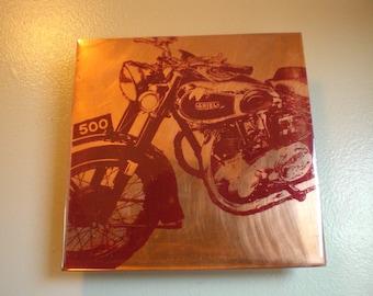 Ariel Motorcycle Painting