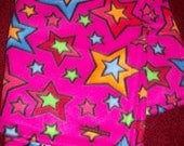 Magenta Baby Girl Fleece Blanket with Multi-colored Stars