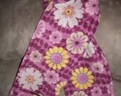 Plum/Lemongrass/Avocado Flowers and Vines Fleece Scarf
