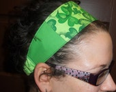 St. Patrick's Day Green Shamrock Double-sided Headband with Elastic Back