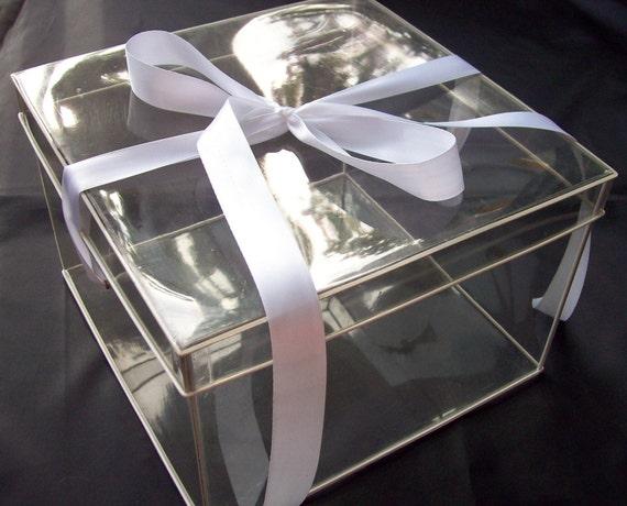 Acrylic Hat Boxes : Vintage plastic hat box clear