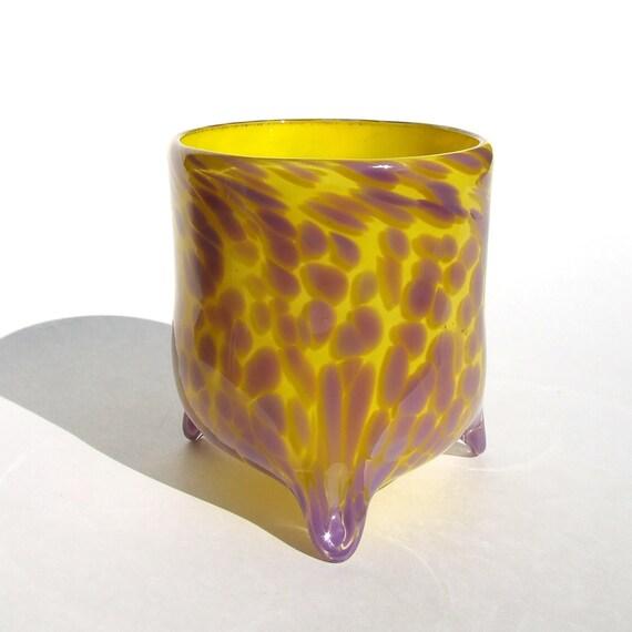 Tripod Tumbler - Yellow and Lilac Purple