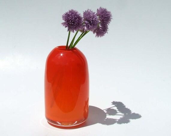 Bullet Vase in Carmine Red - Handblown Glass