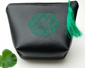 Seed of Life Accessory Pouch - Emerald Green