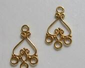 Gold Vermeil Four Loop Chandelier Earring Finding 2