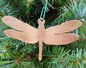Copper Dragonfly Ornament -Personalize It!